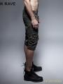 Black Steampunk Shorts for Men