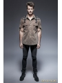 Coffee Steampunk Short Sleeve Shirt for Men