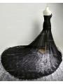Black Lace Mermaid Gothic Wedding Dress