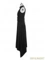 Black Gothic Punk Printing Knit Long Dress