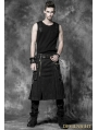 Black Gothic Punk Skirt for Men