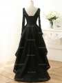 Fashion Black Lace High-Low Gothic Wedding Dress