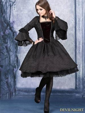 Black Victorian Style Gothic Dress