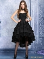 Black Gothic Noble Dovetail Dress