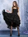 Black Gothic Noble Dovetail Dress