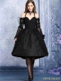 Black Lace Halter Gothic Dress