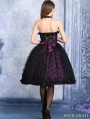Purple and Black Lace Halter Gothic Dress