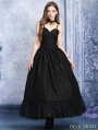 Black Gothic Dress with Layer upon Layer