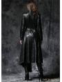 Black Gothic Asymmetric Robe Jacket with Ghost Belt