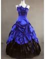 Blue Masquerade Gothic Ball Gowns
