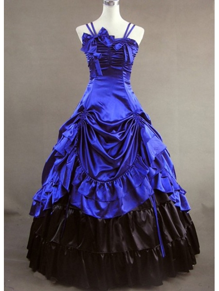 Blue Masquerade Gothic Ball Gowns - Devilnight.co.uk