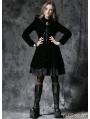 Gothic Dark Velvet Jacket with Lace Hem