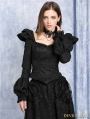 Black Vintage Gothic Victorian Style Top for Women