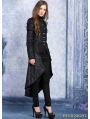 Black Pattern Gothic Dovetail Jacket for Women