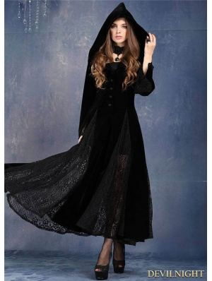 Black Long Sleeves Gothic Vampire Dress