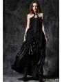 Gothic Elegant Velvet Corset with Cord and Lace Aroundneck