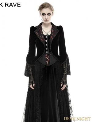 Romantic Gothic Flower-De-Luce Coat for Women