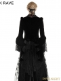 Romantic Gothic Flower-De-Luce Coat for Women