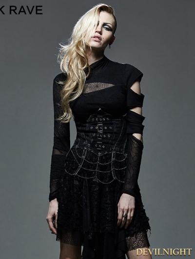 Gothic Punk Chain Underbust Corset