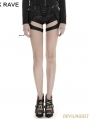 Black Gothic Punk Girl Shooter Short Shorts
