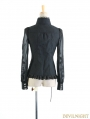 Black Gorgeous Palace Style Blouse for Women