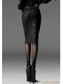 Black Gothic Silm Uniform Feeling Skirt