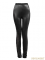 Black Gothic Asymmetric Lace Legging for Women