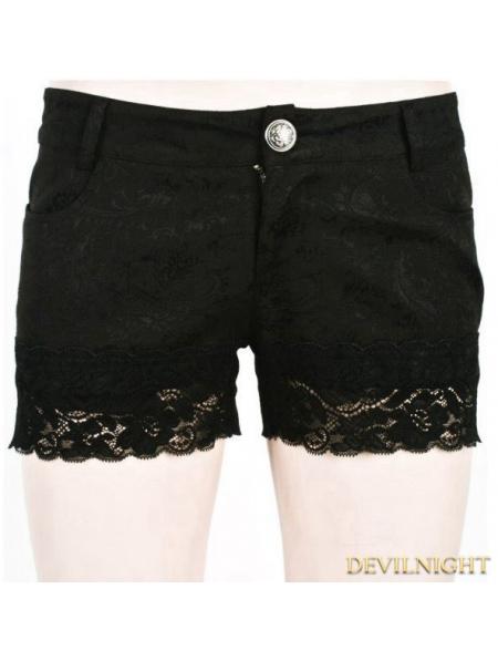 Black Gothic Short Shorts For Women Devilnight Co Uk
