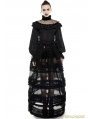 Black Gothic Lolita Lantern Sleeves Shirt for Women