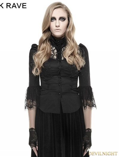Black Gothic IRIS Shirt for Women