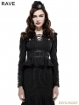 Gothic Stand Collar Military Uniform Shirt for Women