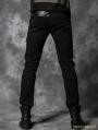 Black Gothic Punk Rivets Pants for Men