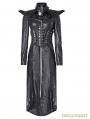 Black Gothic Punk Queen Long Rider Coat for Women