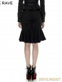 Gothic Fishtail Military Uniform Skirt Kilt