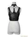 Black Gothic Punk Sexy Vest for Women