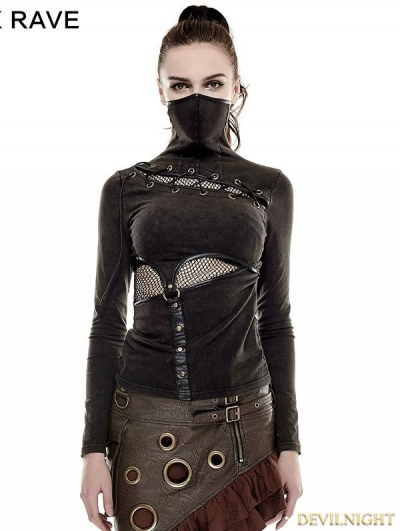 Steampunk Mask Style T-Shirt for Women