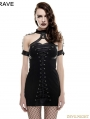 Black Gothic Punk Sexy Rivet Tight Dress