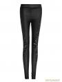 Black Gothic Lace Patchwork Leggings