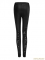 Black Gothic Lace Patchwork Leggings