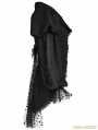 Black Gothic Puff Sleeve Coat for Women