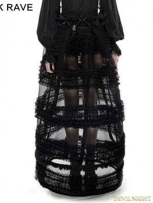 Black Gothic Multi-Level Skirt