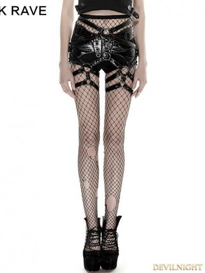 Black Gothic Punk Rivet Pants Set