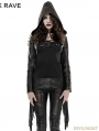 Gothic Punk Tassel Short Coat with Hooded for Women