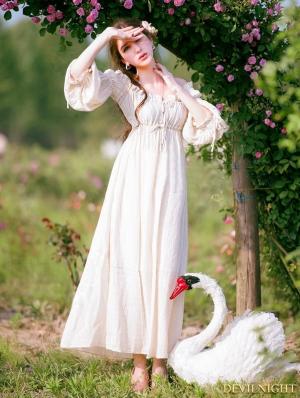 Vintage Medieval Underwear Chemise Dress