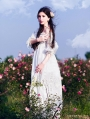 Vintage Fancy Medieval Underwear Chemise Dress