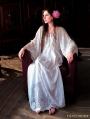 Vintage Lace Medieval Underwear Chemise Dress