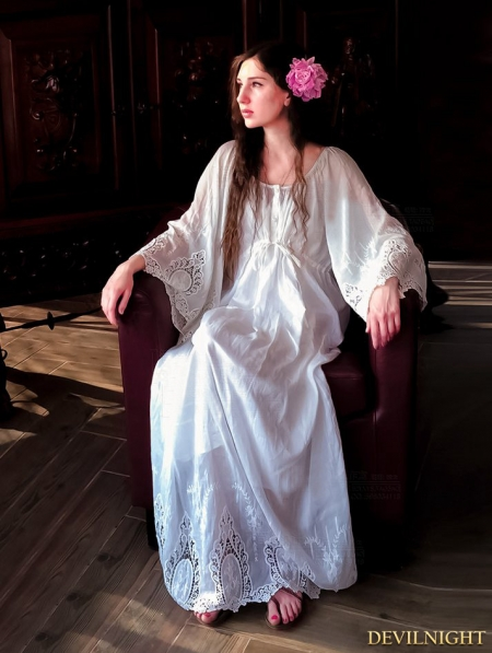 Vintage Lace Medieval Underwear Chemise Dress Devilnight