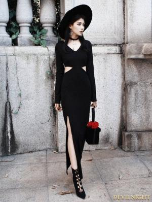 Black Sexy Gothic Witch Style Dress