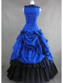 Blue and Black Classic Gothic Ball Gowns