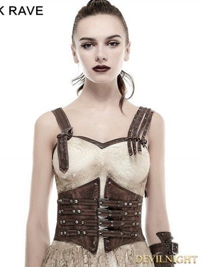 Coffee Buckle Loops Steampunk Girdle